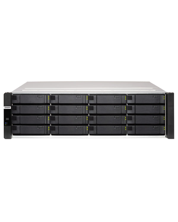 QNAP ES1686dc-96-1614STOE – 224TB integrated w/ 16 x 14TB SAS Enterprise PRO drives 16-Bay Active-Active Dual Controller ZFS NAS tested ready to use