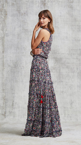 LONG DRESS BETY SLEEVELESS - NAVY AZALEA