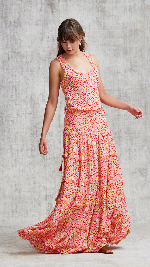 LONG DRESS BETY SLEEVELESS - PINK PAPILON