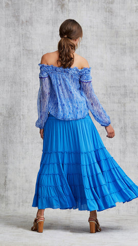 TOP BLOUSE CLARA OFF SHOULDER - LIGHT BLUE FANCIFUL