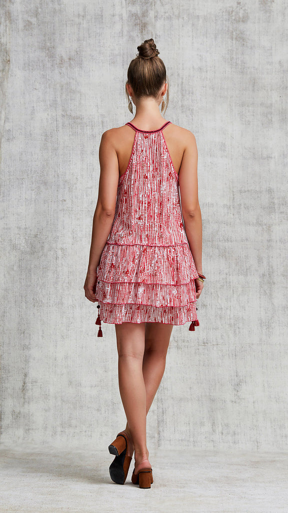 MINI DRESS BETY RUFFLED - PINK FANCIFUL