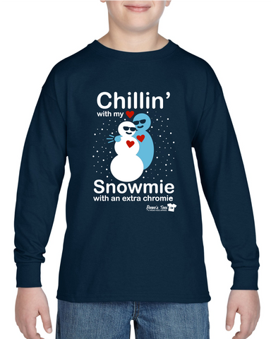 Winter - Chillin with my Snowmie with an Extra Chromie - Long Sleeve Tee