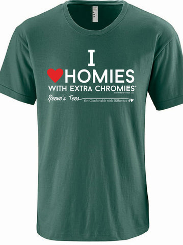 HWEC - I Love Homies with Extra Chromies® - Short Sleeve Tee - Discontinued Colors