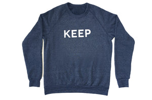 KEEP SWEATSHIRT Charcoal Raglan Block Logo - Keep Company