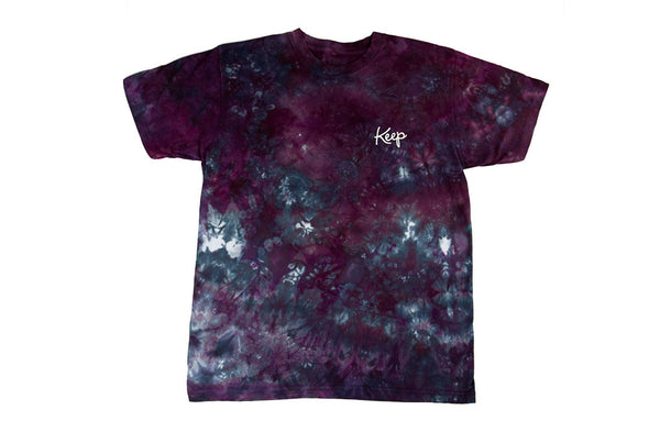 CRYSTAL DYED LOGO TEE Oxblood - Keep Company  - 1