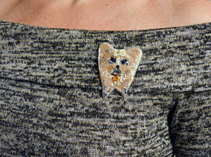 handcrafted dog brooch