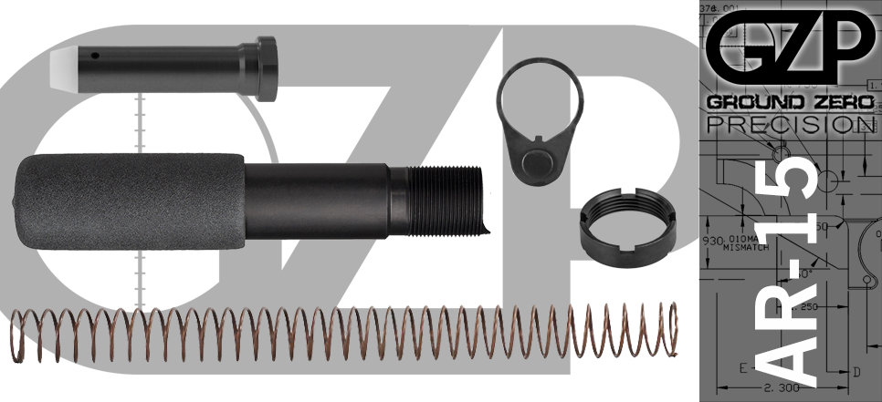 AR 15 Pistol Buffer Tube Assembly Kit