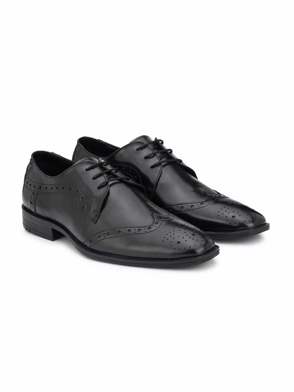 Alberto Torresi Exreno Black Formal Shoes