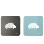 Hedgehog Coasters In Soft Blue - Set of Four - Zed & Co