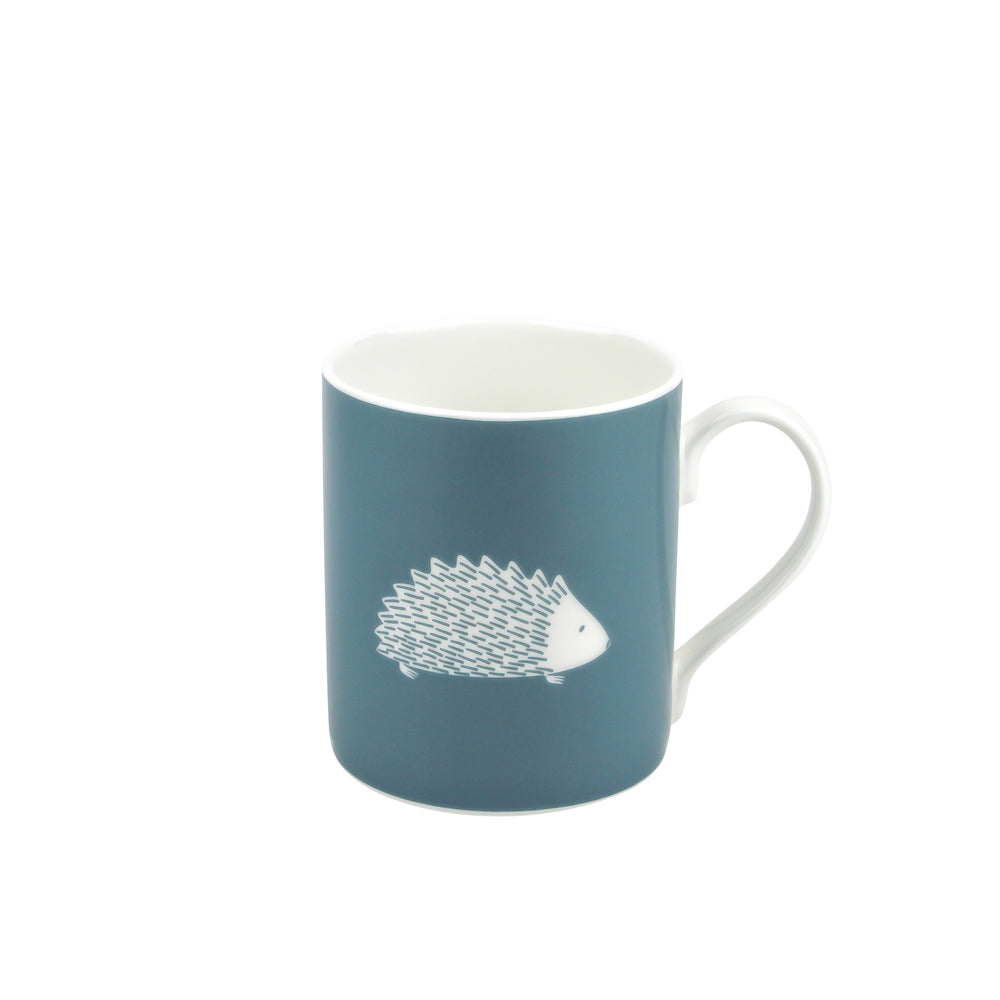 Hedgehog Mug In Teal - Zed & Co
