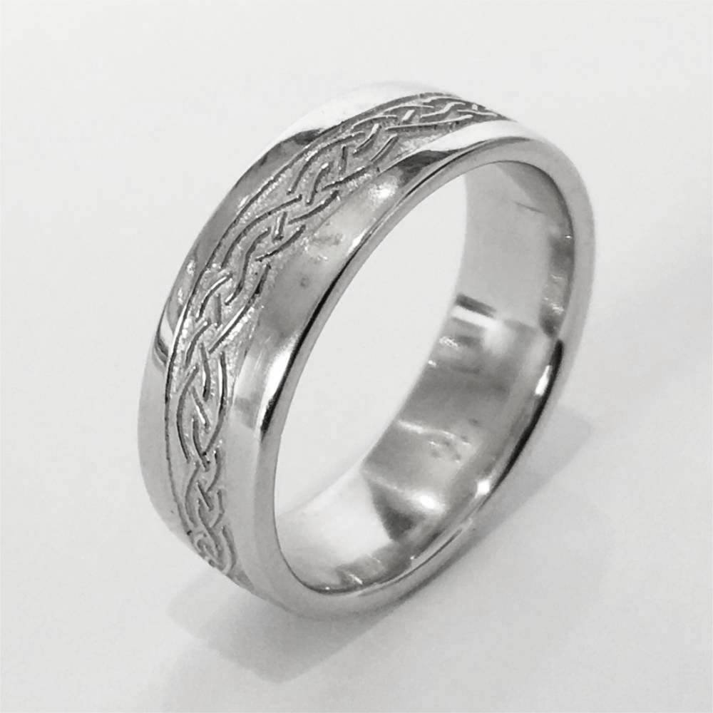Celtic Knot Ring - Silver or Gold - OG1-Ogham Jewellery