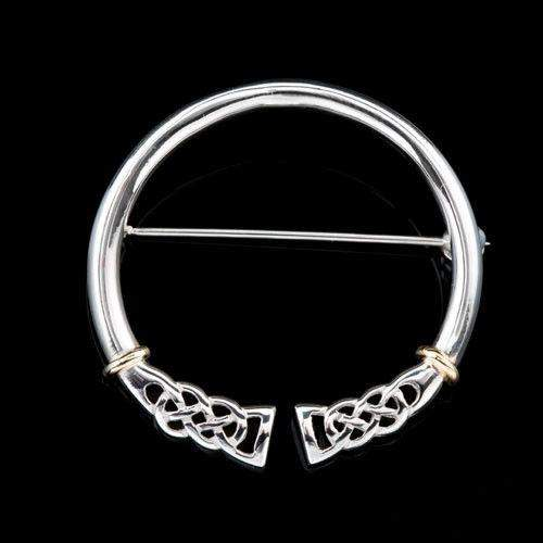 Shetland Sterling Silver or Gold Celtic Brooch B360-Ogham Jewellery