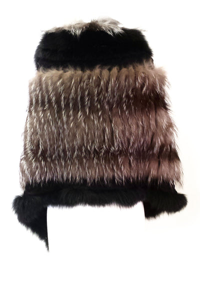 ASYMMETRICAL FUR CAPE