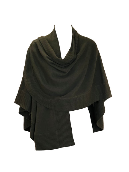 SHORT FINE MERINO WOOL CAPE