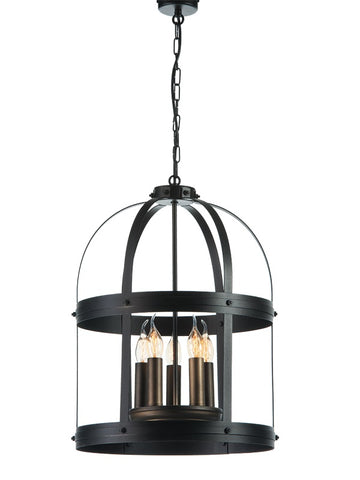 ARSENE - Rustic Farmhouse Pendant Light, Metal Chandelier-Ceiling Lamp-Belle Fierté