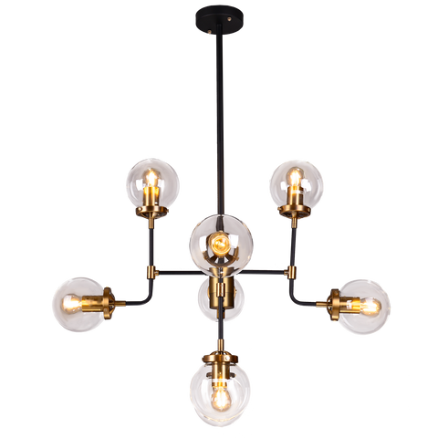 Giorgio - Modern Loft Style Chandelier, 8 Light Large Industrial Style Ceiling Lamp-Ceiling Lamp-Belle Fierté