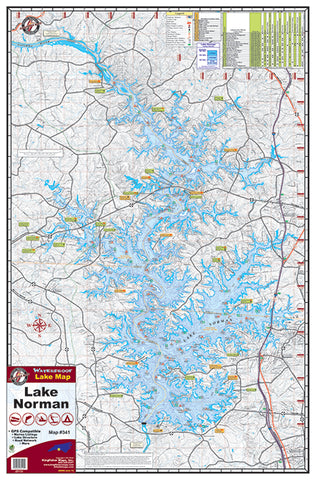 Kingfisher North Carolina Lake Maps - Angler's Headquarters