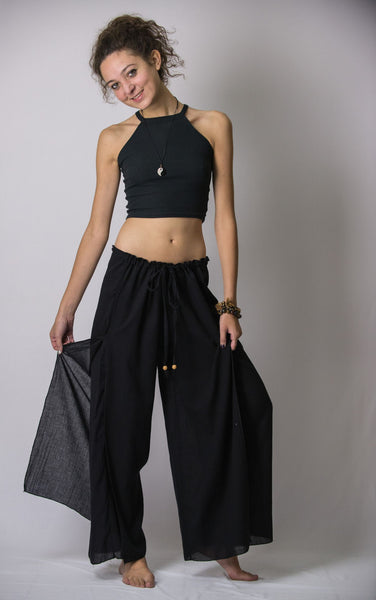 Women S Thai Harem Double Layers Palazzo Pants In Solid