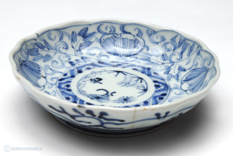 Imari small bowls, light blue and white