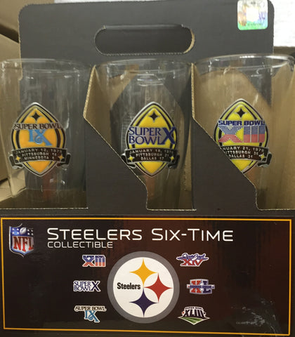 Steelers 6-Time Champions Pilsner Glasses