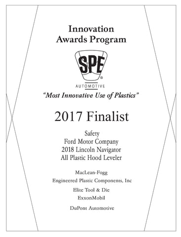 1 Safety: All Plastic Hood Leveler - 2017 Finalist