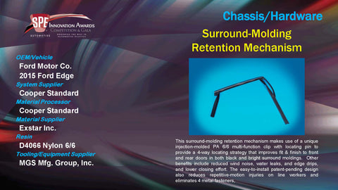 CH Surround Molding Retention Mechanism - 2015 Display Plaque