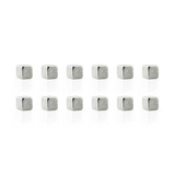 Cube Mighties Magnets - Silver 12 Pack