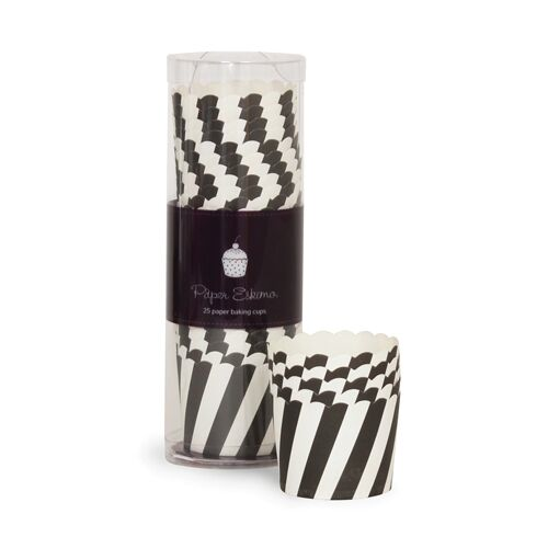Baking Cups - Black Stripes