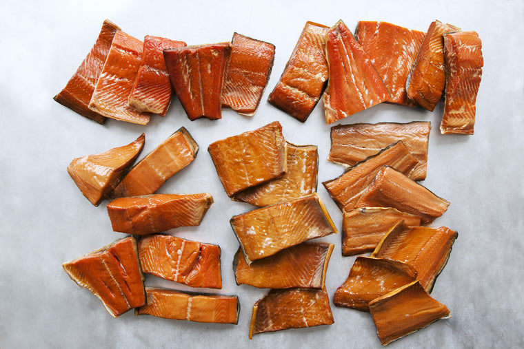 Smoked Wild Salmon Sampler - 60 pieces - Loki Fish Company