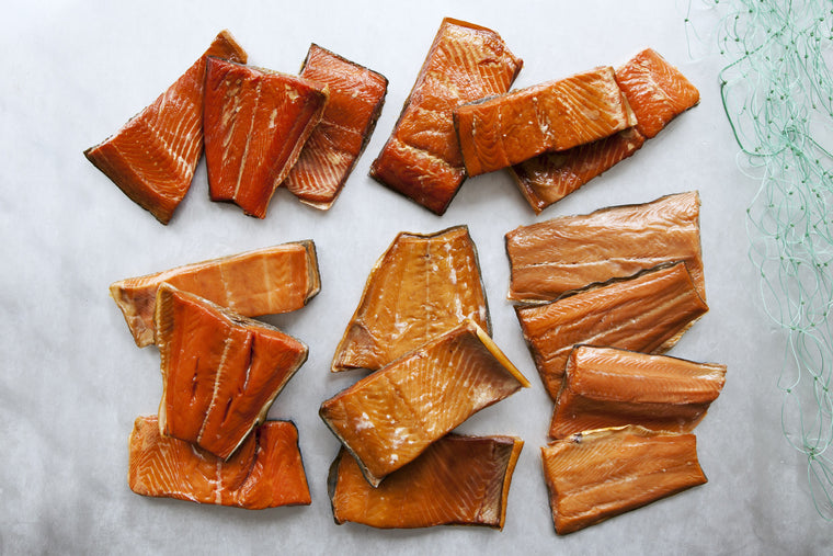 Smoked Wild Salmon Sampler - 30 pieces - Loki Fish Company