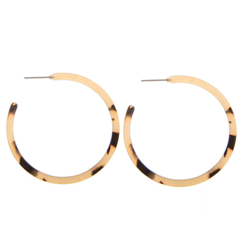 Light Tortoise Hoops