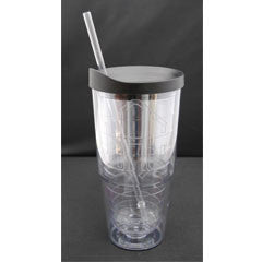 24oz Insulated Monogrammed Tumbler w/straw