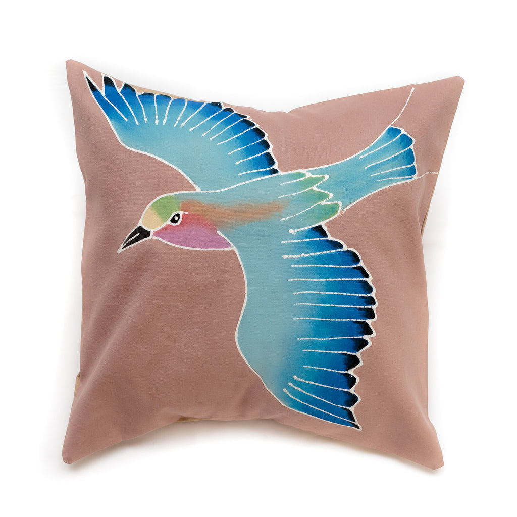 Cushion cover decorated with Lilac Breasted Roller design