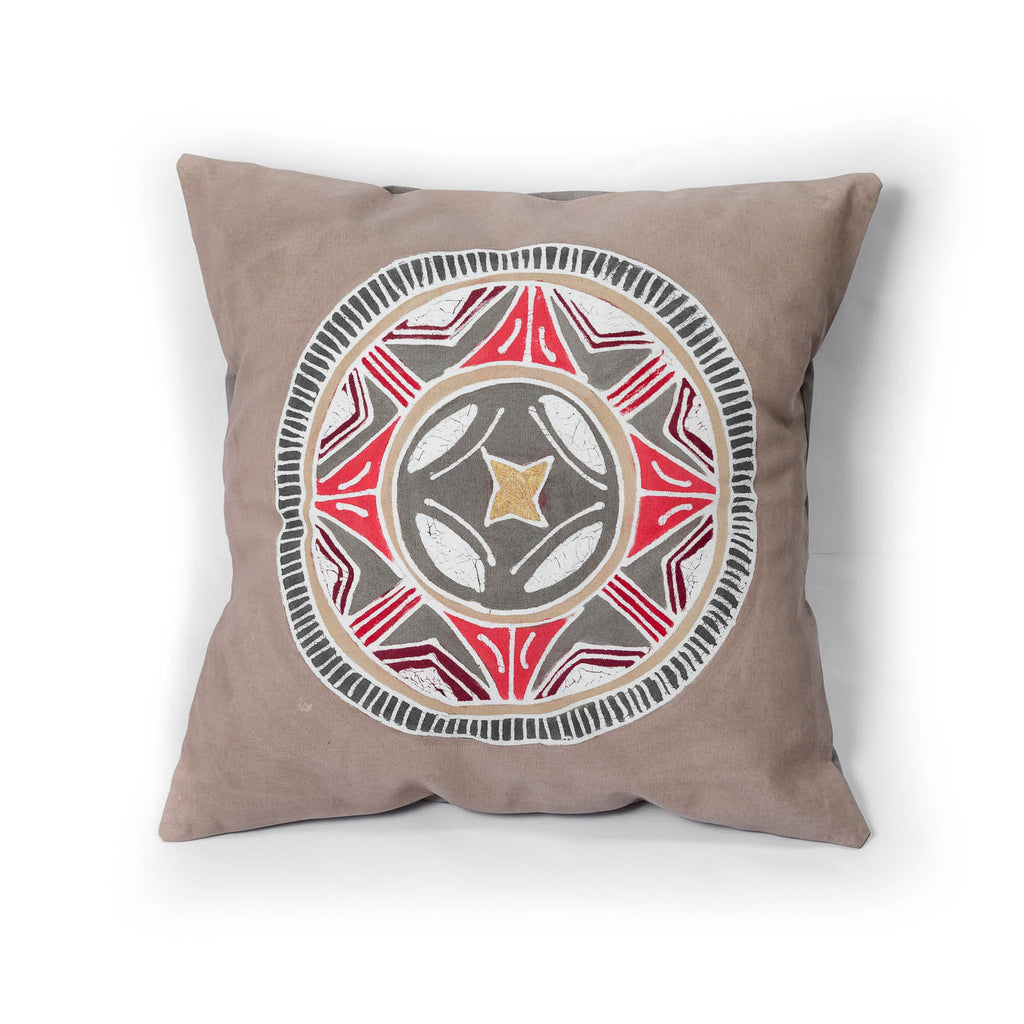 Hand-painted African print pillow