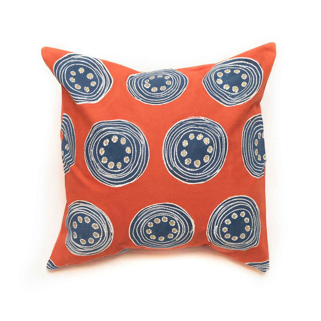 African Hand-painted cushion cover