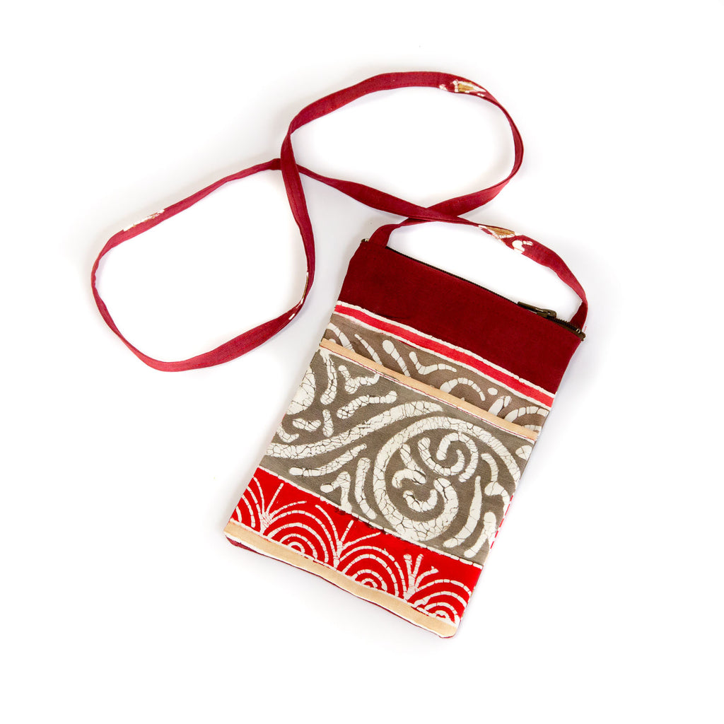Hand-painted african print Passport Bags