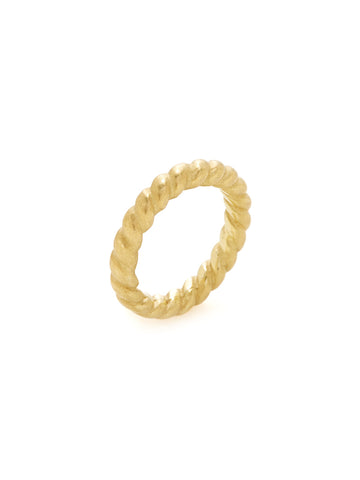 18K Yellow Gold Rope Band