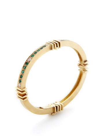 Emerald Diamond Ridge Cuff