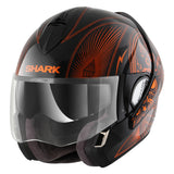 SHARK Helmets EVOLINE SERIES 3 Mezcal Chrome Black / Orange