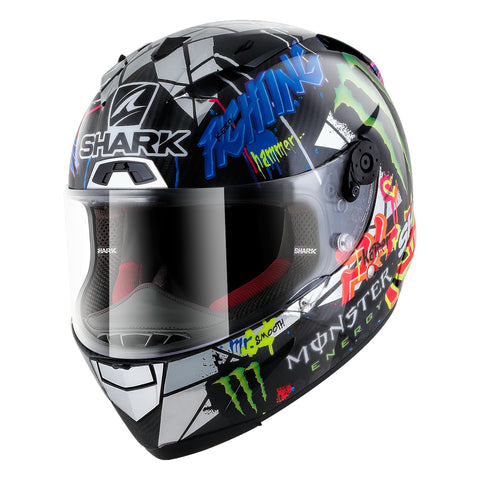 SHARK Helmets RACE-R PRO CARBON  Lorenzo Catalunya GP- Front Left