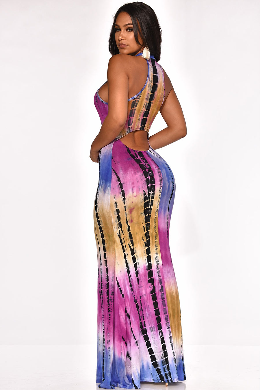HIGH RISK TIE DYE MAXI DRESS