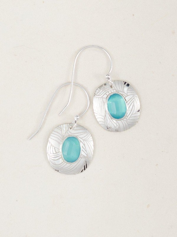 AQUA/SILVER SYNERGY EARRINGS