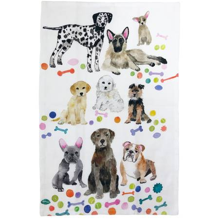 DOGS TEA TOWEL