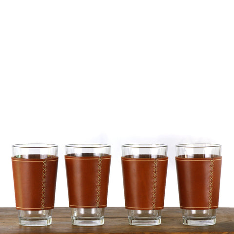 Leather Pint Glass Sleeve - 4 pack