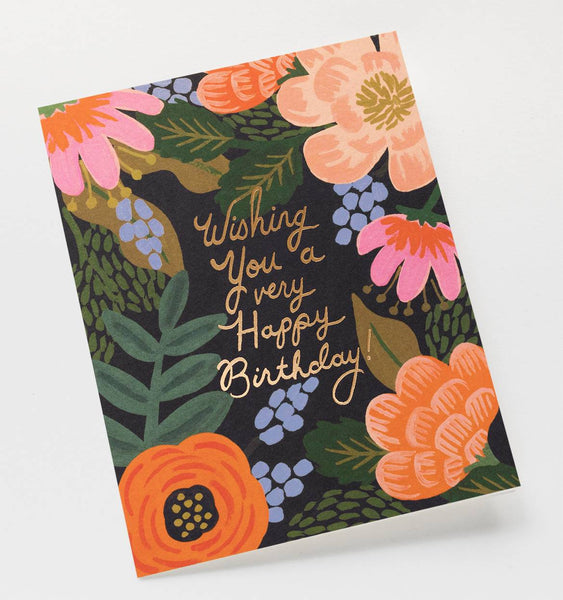 Rifle Paper Co Bordeaux Birthday Card
