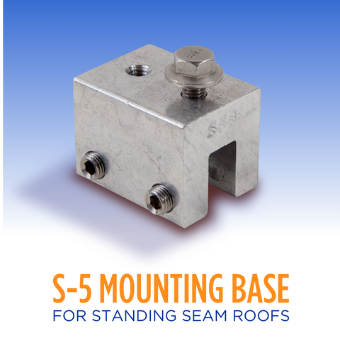 S5 Standing Seam Roof Mounting Base Clamp
