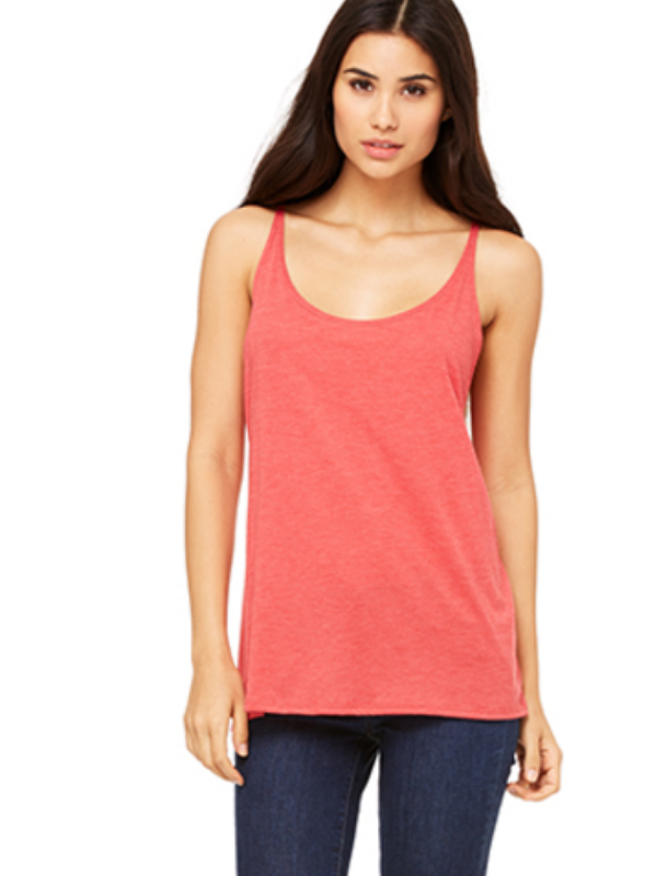 Slouchy Basic Tank - Heather Red