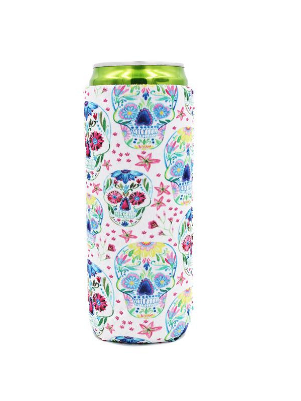 Sugar Skull Slim Can Cooler