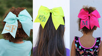 Monogram Cheer Bows | 22 Colors