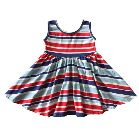 Eleanor Stripe Tank Twirly Dress